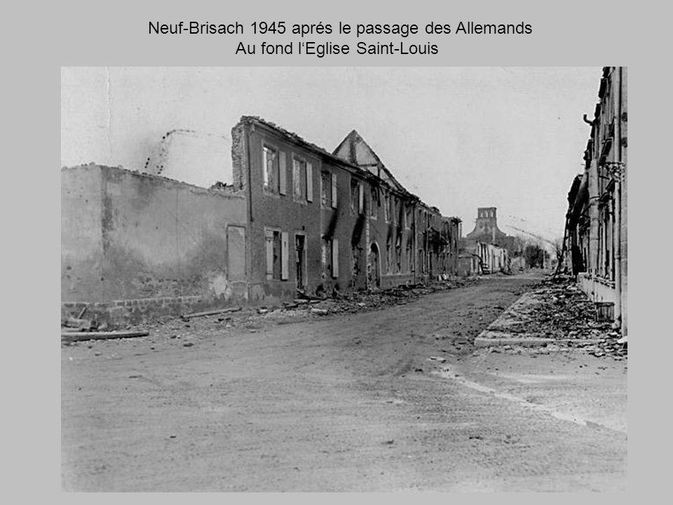 Neuf-Brisach 1945 aprés le passage des Allemands