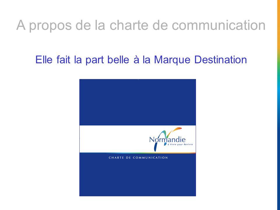 A propos de la charte de communication Elle fait la part belle à la Marque Destination