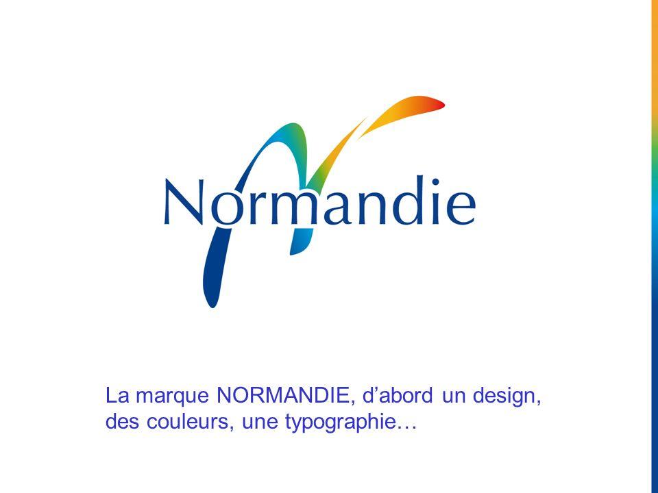 La marque NORMANDIE, dabord un design, des couleurs, une typographie…