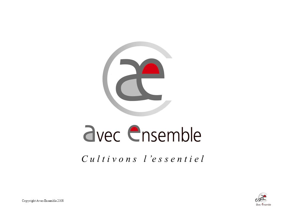 Copyright Avec-Ensemble 2008 69 C u l t i v o n s l e s s e n t i e l