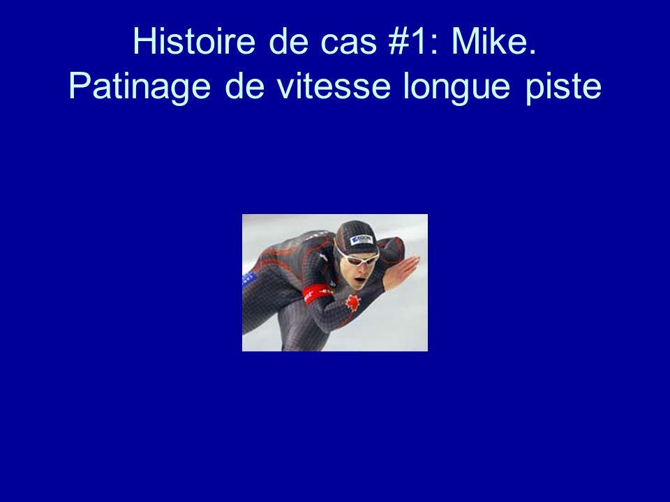 Histoire de cas #1: Mike. Patinage de vitesse longue piste