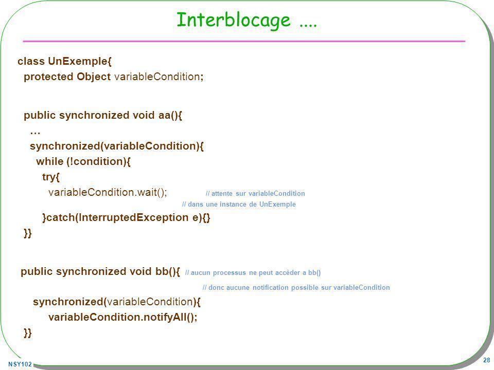 NSY102 28 Interblocage....