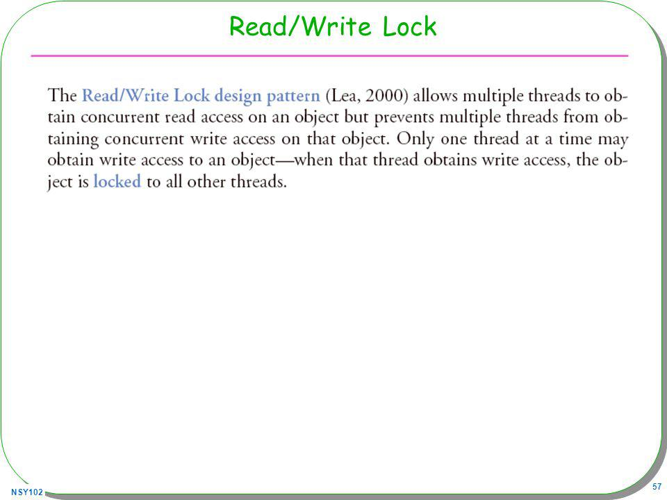 NSY102 57 Read/Write Lock