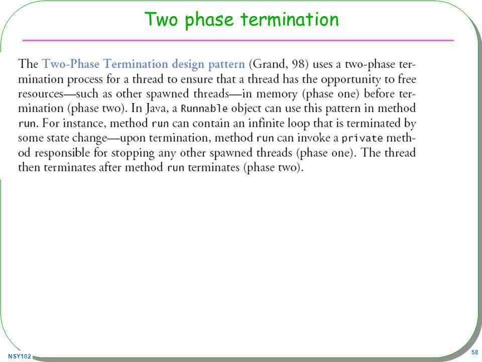 NSY102 58 Two phase termination