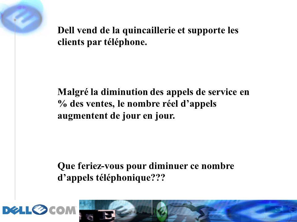 Dell vend de la quincaillerie et supporte les clients par téléphone.