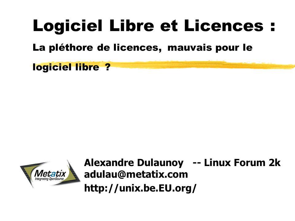 Logiciel Libre et Licences : La pléthore de licences, mauvais pour le logiciel libre .