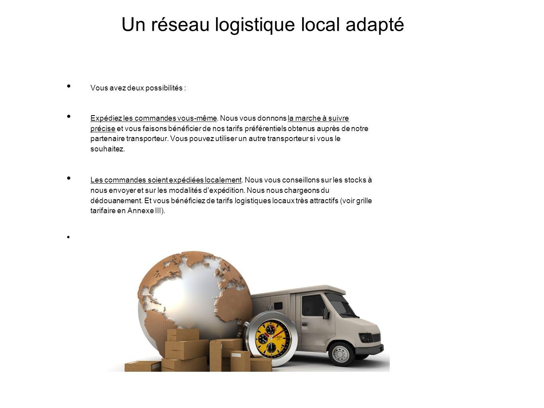 Un réseau logistique local adapté Vous avez deux possibilités : Expédiez les commandes vous-même.