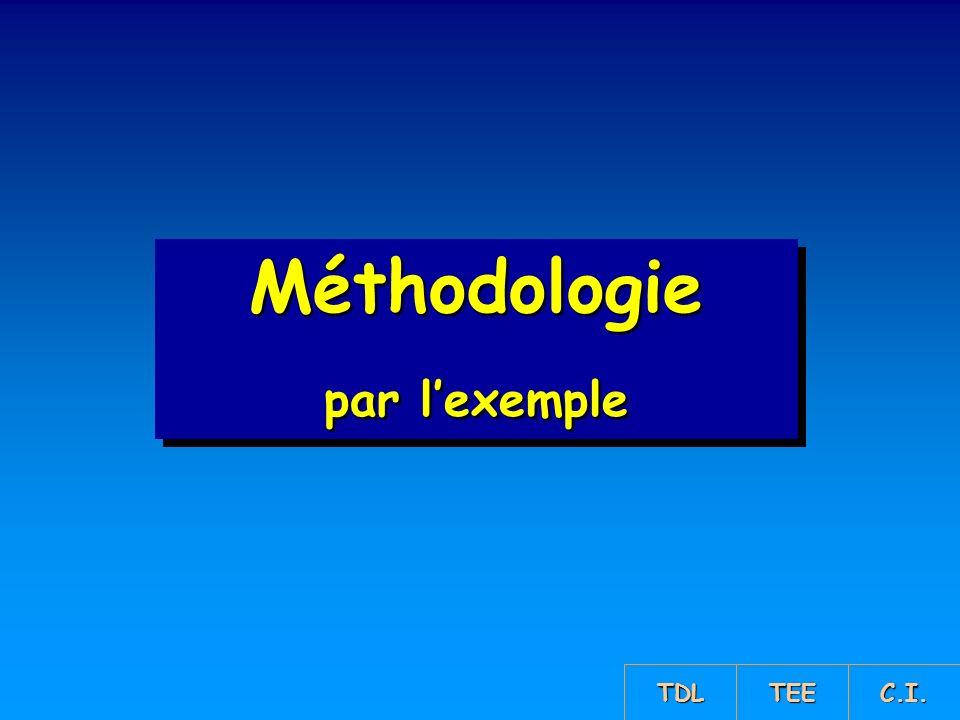 Méthodologie par lexemple Méthodologie TDL TEE C.I.