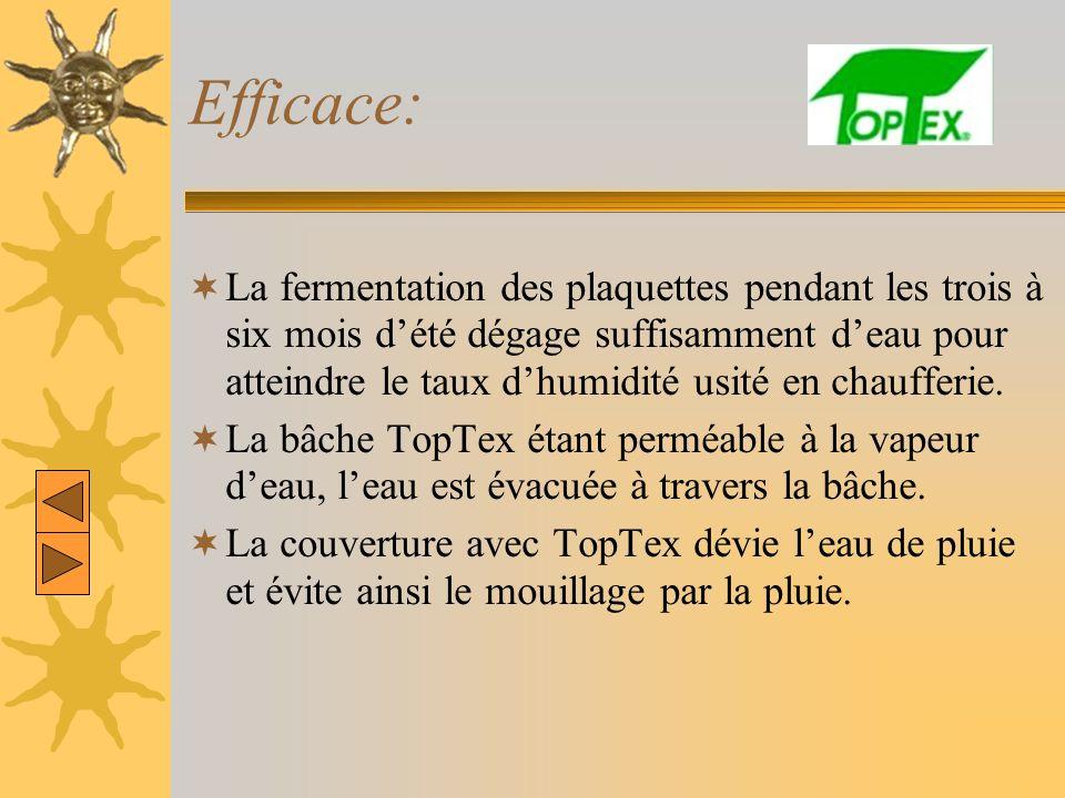 Efficace: La fermentation des plaquettes pendant les trois à six mois dété dégage suffisamment deau pour atteindre le taux dhumidité usité en chauffer