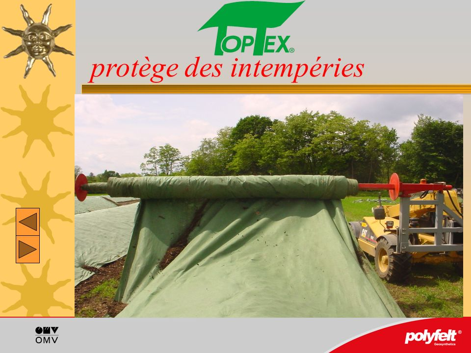 Propre, esthétique: La bâche TopTex est dune belle teinte verte.