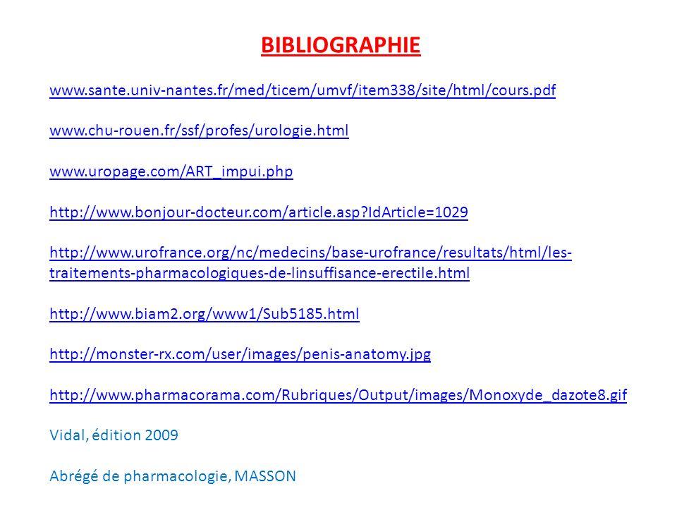BIBLIOGRAPHIE www.sante.univ-nantes.fr/med/ticem/umvf/item338/site/html/cours.pdf www.chu-rouen.fr/ssf/profes/urologie.html www.uropage.com/ART_impui.