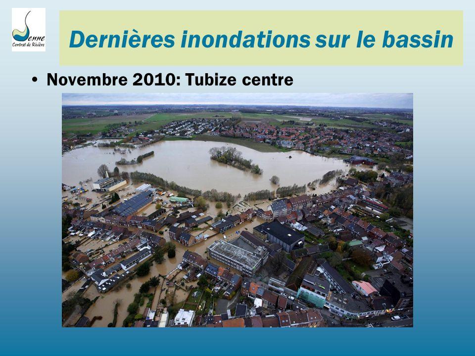 Dernières inondations sur le bassin Novembre 2010: Tubize centre