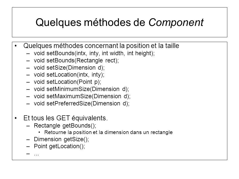 Un conteneur permet de contenir plusieurs composants.
