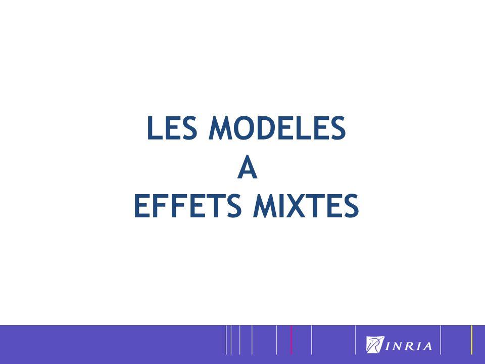 LES MODELES A EFFETS MIXTES : Un outil statistique de modélisation très largement utilisé pour modéliser la variabilité inter-sujet de paramètres physiologiques en pharmacologie, en génétique animale, en neurosciences, en agronomie, …