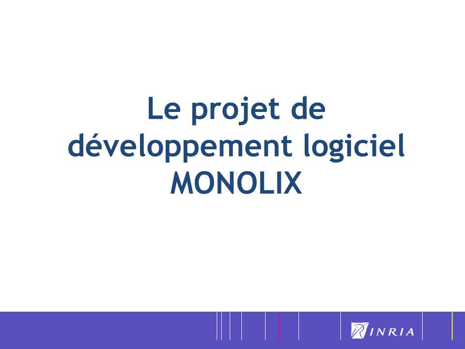 Le projet de développement logiciel MONOLIX