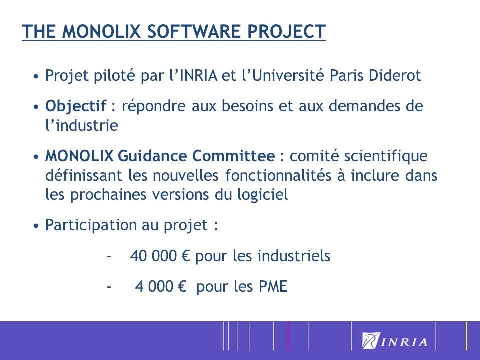 THE MONOLIX SOFTWARE PROJECT Projet piloté par lINRIA et lUniversité Paris Diderot Objectif : répondre aux besoins et aux demandes de lindustrie MONOL