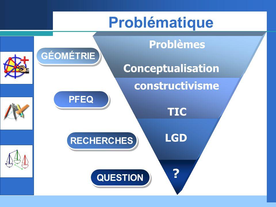 Company LOGO Constats recherches Translation Transformations géométriques Conceptualisation Primaire Question
