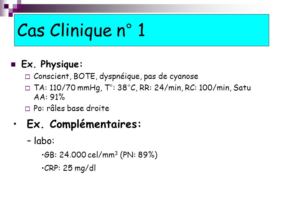Cas Clinique n° 1 Ex.