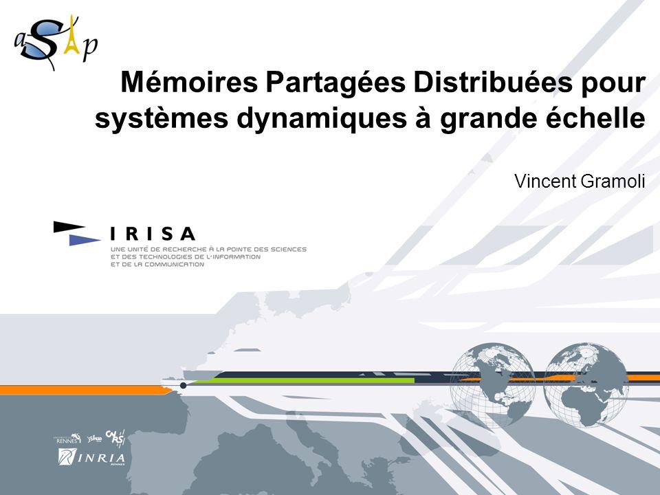 Mémoires Partagées Distribuées pour systèmes dynamiques à grande échelle Vincent Gramoli