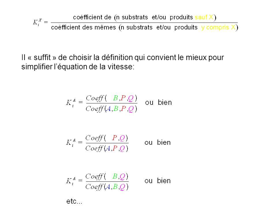 Il « suffit » de choisir la définition qui convient le mieux pour simplifier léquation de la vitesse: