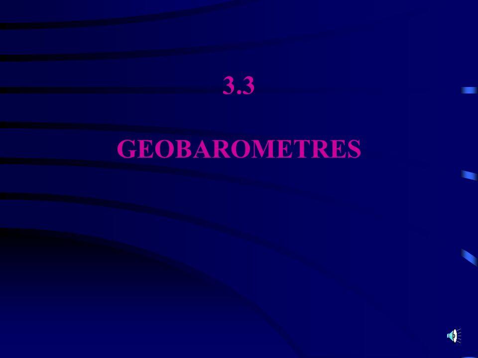 3.3 GEOBAROMETRES