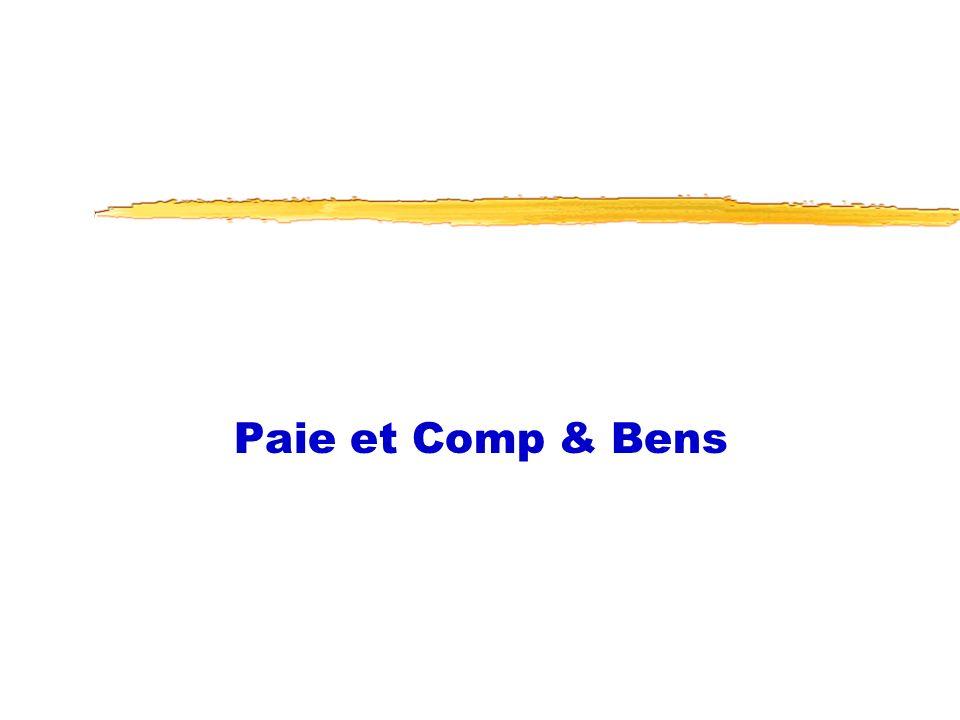 Paie et Comp & Bens