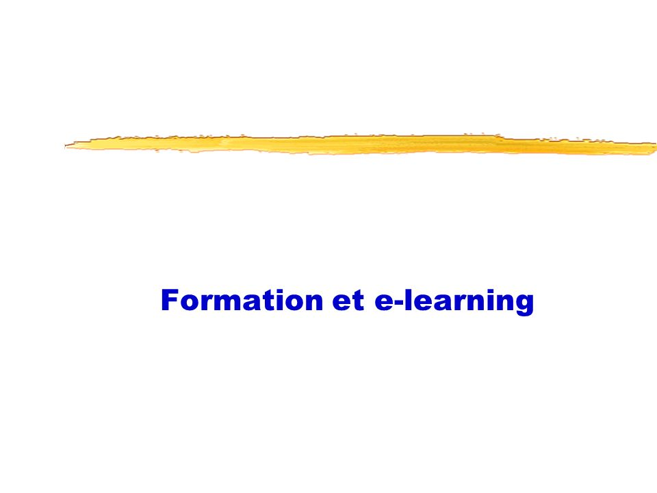 Formation et e-learning