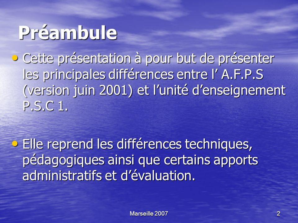 23 Evaluation de la formation L évaluation de la formation est une nouveauté en PSC 1.
