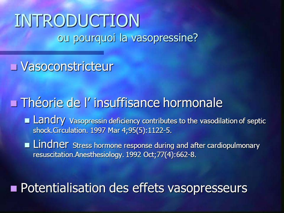 INTRODUCTION ou pourquoi la vasopressine.