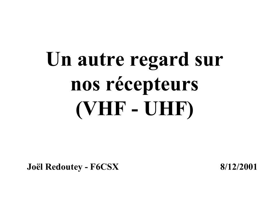 Un autre regard sur nos récepteurs (VHF - UHF) Joël Redoutey - F6CSX8/12/2001