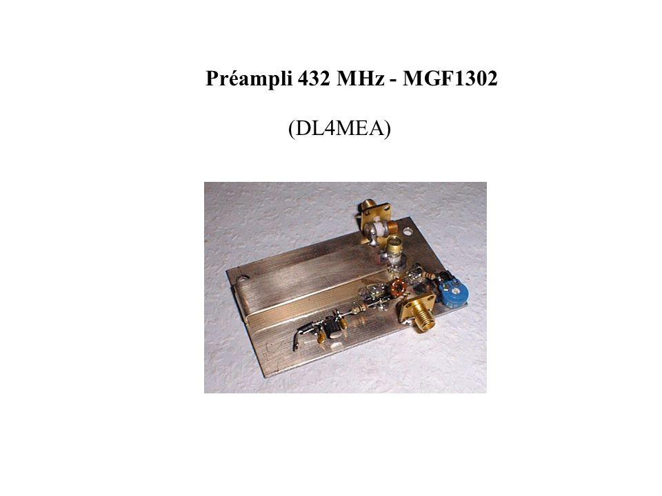 Préampli 432 MHz - MGF1302 (DL4MEA)