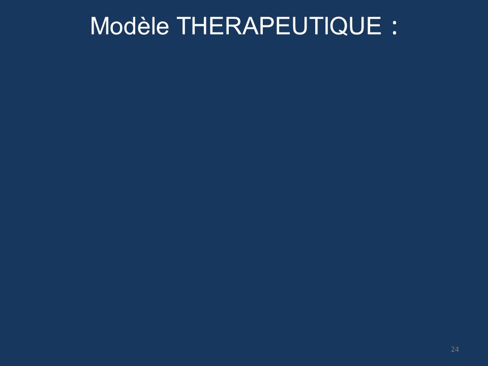 Modèle THERAPEUTIQUE : 24