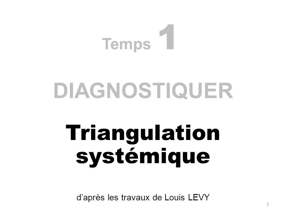 Temps 1 DIAGNOSTIQUER Triangulation systémique daprès les travaux de Louis LEVY 5