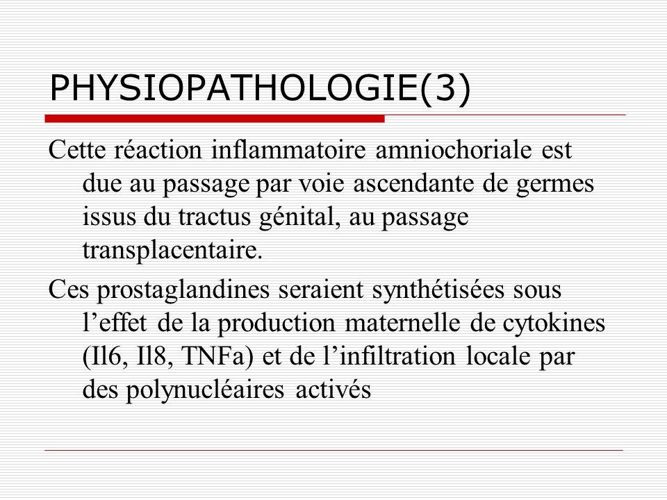 TRAITEMENT SYMPTOMATIQUE: LA TOCOLYSE(2) Contre-indications relatives :.
