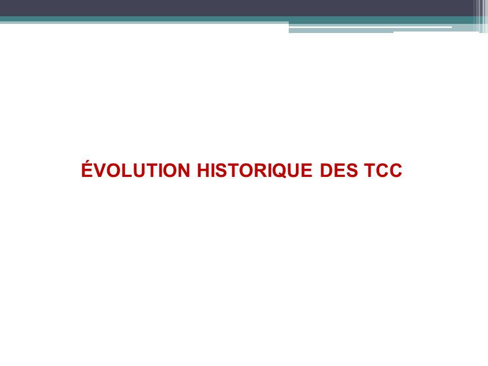 ÉVOLUTION HISTORIQUE DES TCC ÉVOLUTION HISTORIQUE DES TCC