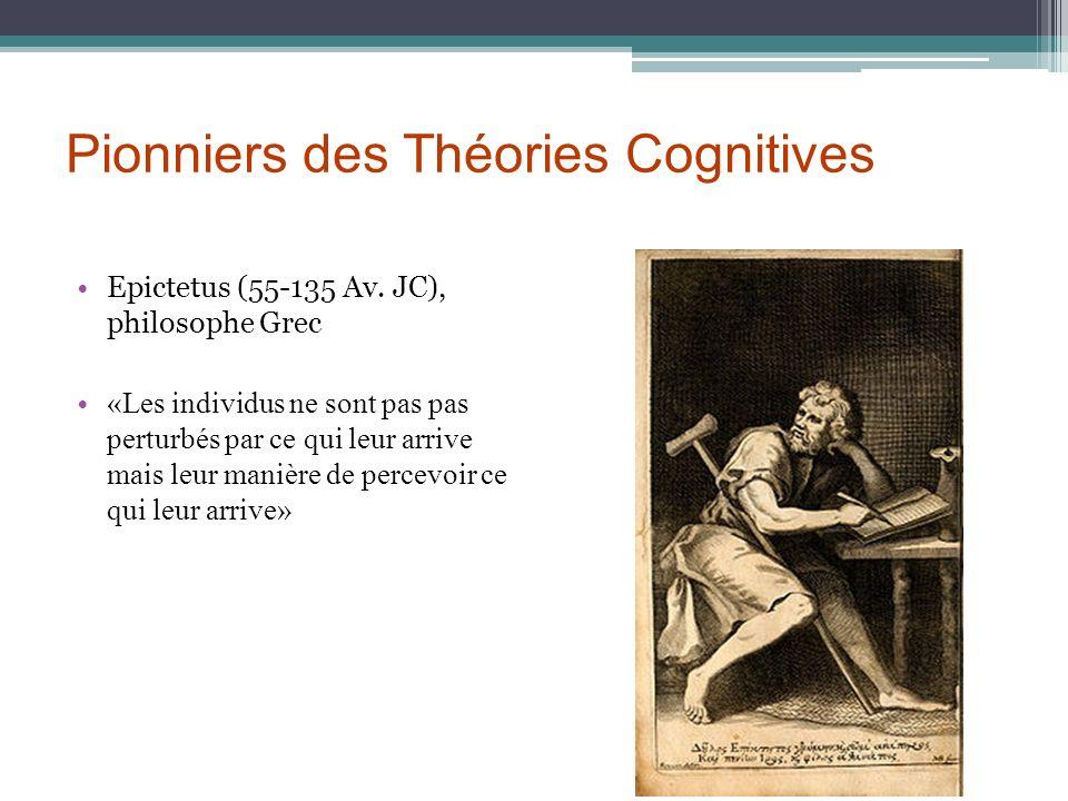 Pionniers des Théories Cognitives Epictetus (55-135 Av. JC), philosophe Grec «Les individus ne sont pas pas perturbés par ce qui leur arrive mais leur
