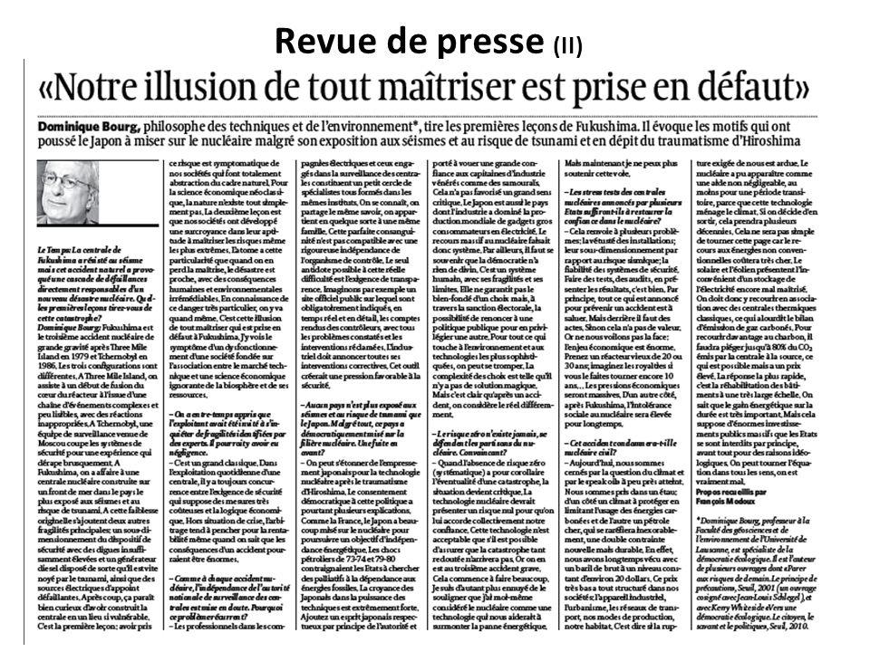 Revue de presse (II)