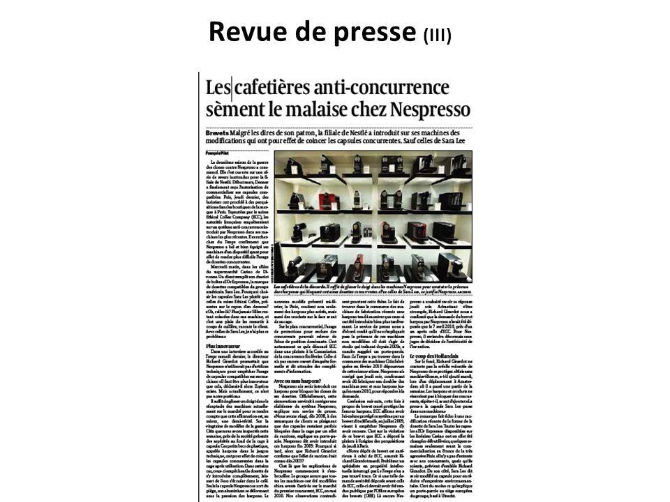 Revue de presse (III)