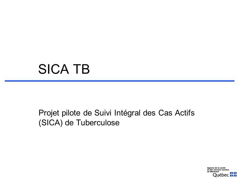 SICA TB Projet pilote de Suivi Intégral des Cas Actifs (SICA) de Tuberculose