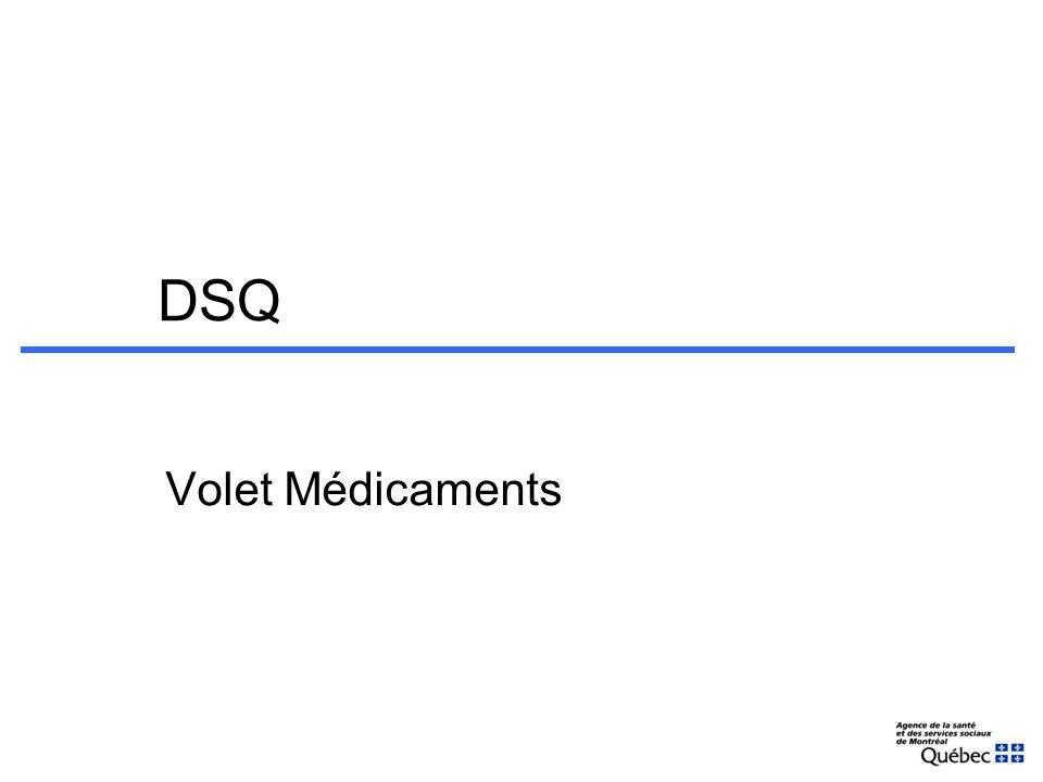 DSQ Volet Médicaments