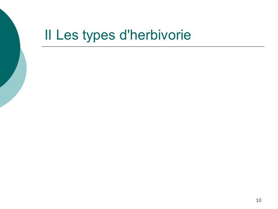 10 II Les types d'herbivorie