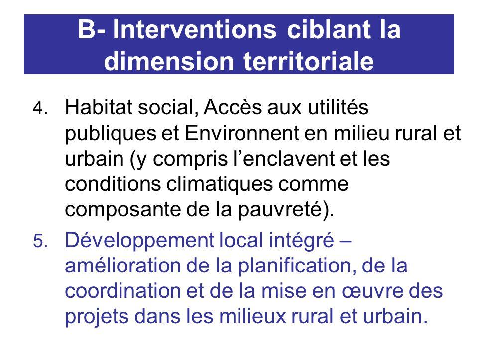 B- Interventions ciblant la dimension territoriale 4.