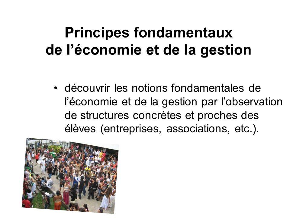 Principes fondamentaux de léconomie et de la gestion découvrir les notions fondamentales de léconomie et de la gestion par lobservation de structures