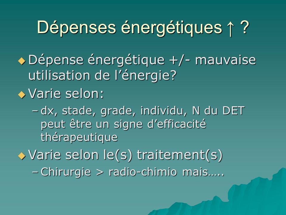 Dépenses énergétiques ? Dépense énergétique +/- mauvaise utilisation de lénergie? Dépense énergétique +/- mauvaise utilisation de lénergie? Varie selo