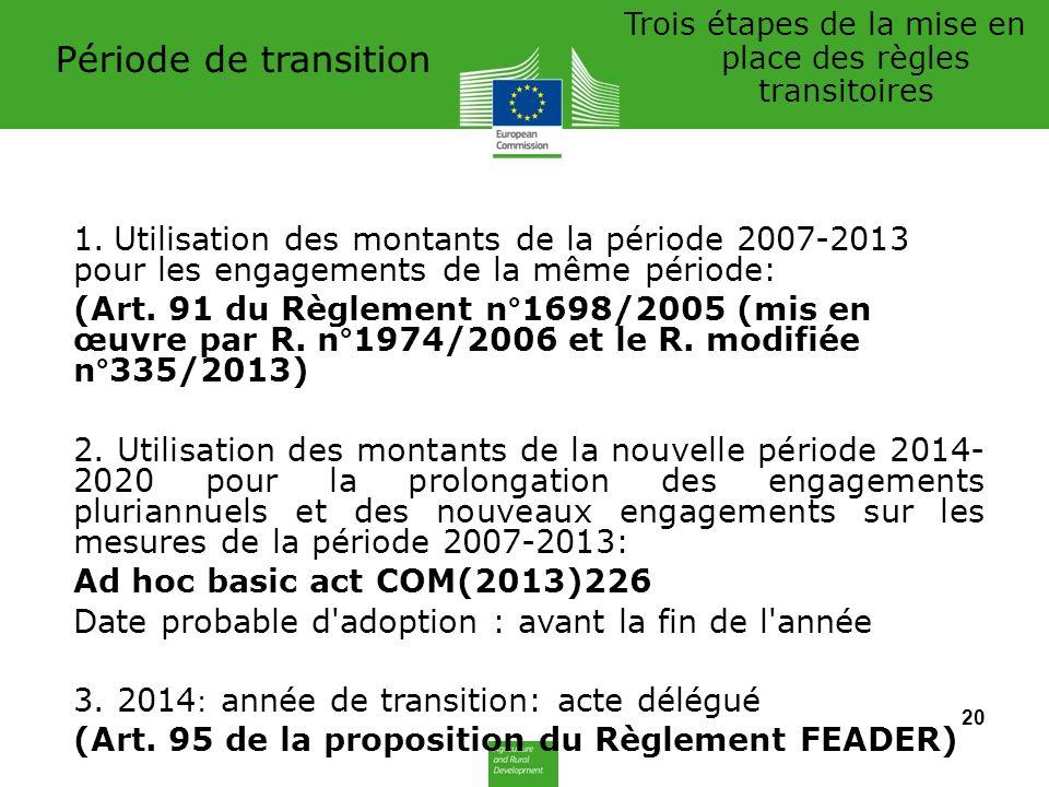 Période de transition 1.