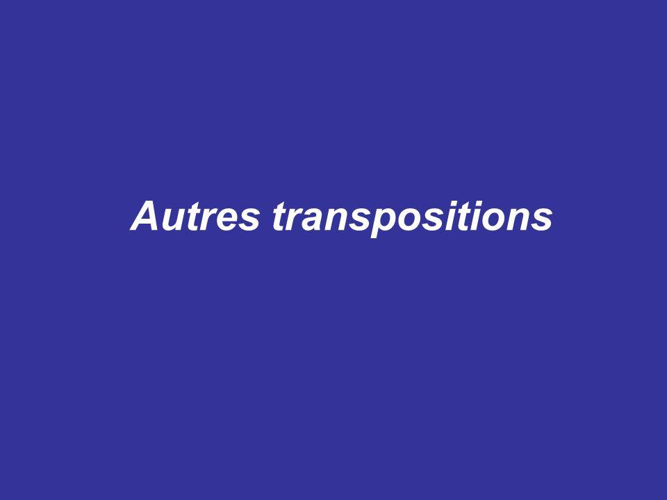 Autres transpositions