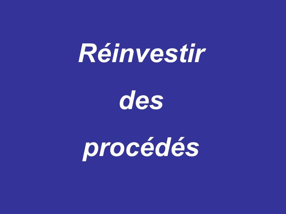 Réinvestir des procédés