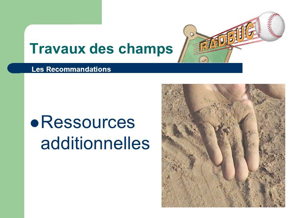 Travaux des champs Ressources additionnelles Les Recommandations