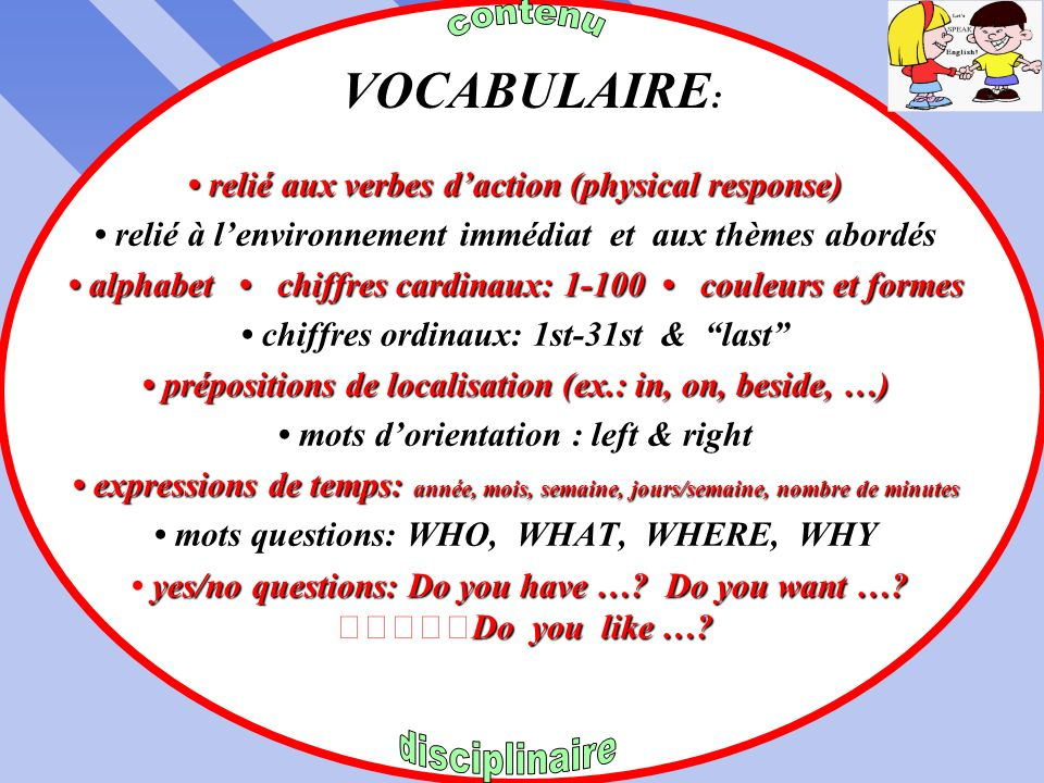 EXPRESSIONS UTILES EXPRESSIONS UTILES ROUTINE de CLASSE CAPACITÉ RENSEIGNEMENTS SUGGESTIONS / INVITATIONS OFFRES DAIDE / BESOINS PERMISSIONS IDENTIFIC