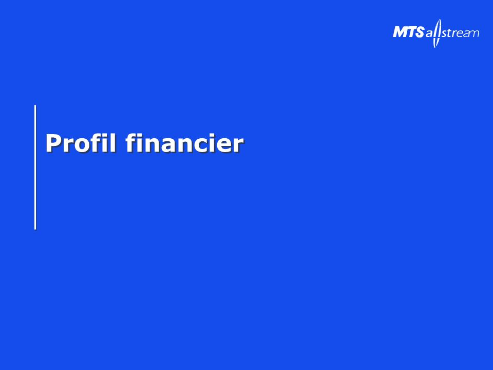 Profil financier